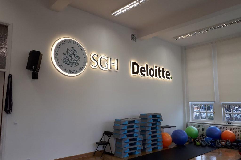 Логотип SGH с эффектом гало
