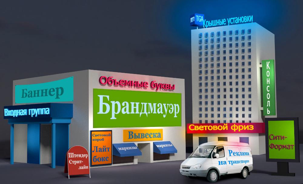Формы, виды и варианты уличной внешней рекламы