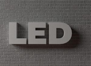 Не световые объемные буквы