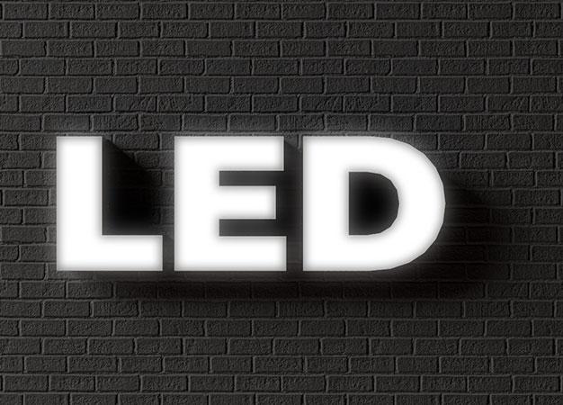 Объемные буквы с лицевой подсветкой