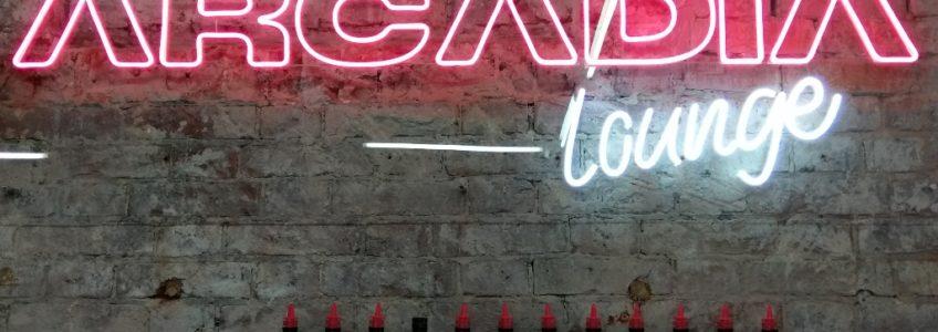 Надпись из светодиодного неона для кафе