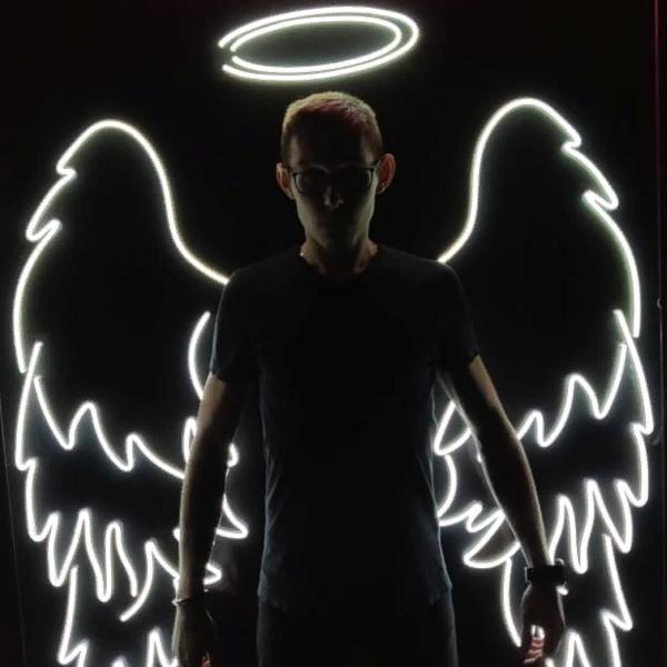 Фигура из неона для бара «Крылья»
