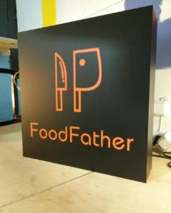 """Лайтбокс для ресторана """"Food Father"""""""