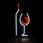 Фигура изображение из гибкого светодиодного неона для бара ресторана в Москве
