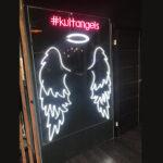 Вывеска Крылья ангела из гибкого LED неона