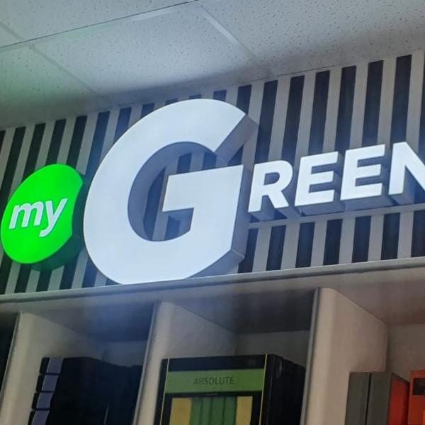 Световая вывеска <br/>компания «GREENWAY»