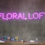 Неоновая надпись «Floral loft»
