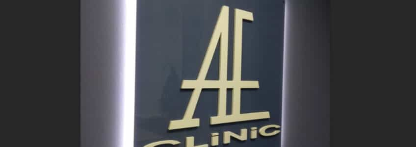 Вывеска AE-Clinic